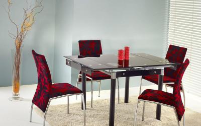 стеклянный обеденный стол фото