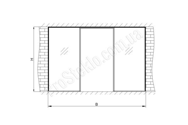 схема для установки витрины магазина