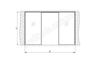 схема Витрины магазина из стекла
