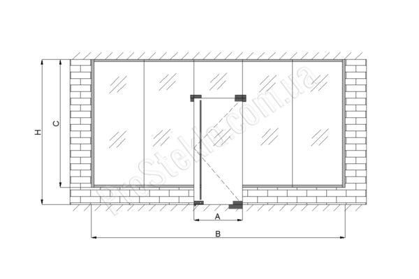 чертеж витрины для магазина