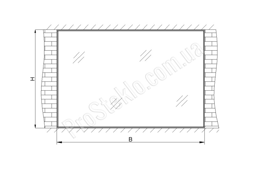 схема стеклянной витрины