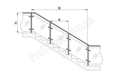схема ограждение лестниц