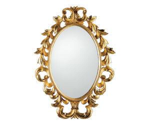 зеркало в золотой оправе